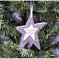 """Набор подвесок на елку """"Звезда"""" KSN234, 21*9.5*1 см, дерево, из 3 шт, Новогодние сувениры, Украшения новогодние, Игрушки на елку"""