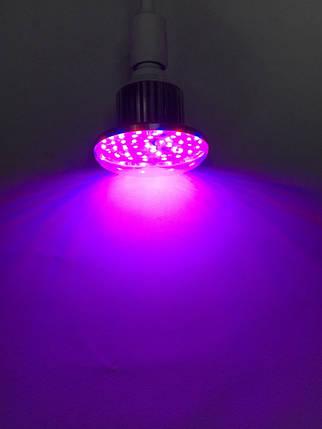 Лампа светодиодная фитоосвещение SL-18F 18W Е27 220V (fito spectrum led) Код.59207, фото 2