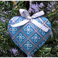 """Подвеска на елку """"Сердце"""" KSN4186, 28*10.5*1.5 см, металл, Новогодние сувениры, Украшения новогодние, Игрушки на елку"""