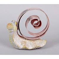 """Декор """"Улитка"""" JK401, материал - металл, керамика, размер - 12*14 см, декор для дома, декорирование дома, аксессуары для дома"""