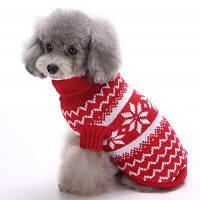 Вязание Снега Волна свитер Зимняя теплая одежда Рождественский щенок XS