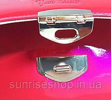 Клатч лаковый розовый, фото 2