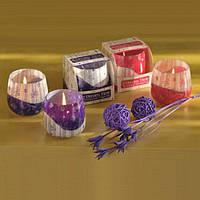 """Свеча декоративная для дома """"Время мечтать"""" S779, в стакане, ароматизированная, в коробке, 4 вида, свеча в стакане, арома свеча"""