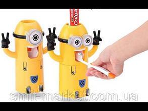 Подставка для щеток Миньен, автоматический дозатор зубной пасты Миньон, фото 2
