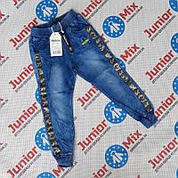 Котоновые детские брюки на манжетах для мальчиков оптом  F&D