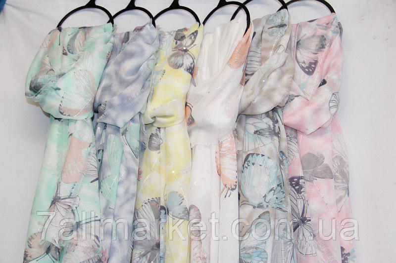 51382f262d078 Шарф-палантин женский с бабочками размер 90*180 см (7 цветов)