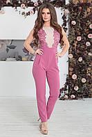 Комбинезон брючный Долорес розовый, фото 1