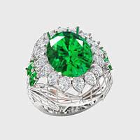 Кольцо  женское серебряное Изабелла КН-1555