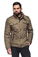 Мужская стеганная деми куртка Марсель хаки (48-56)