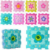 Коврик мозаика цветы 2613 (коврик мат): 9 деталей