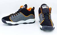 Обувь для баскетбола мужская Jordan  (р-р 41-45) (PU, черный-серый-оранжевый)