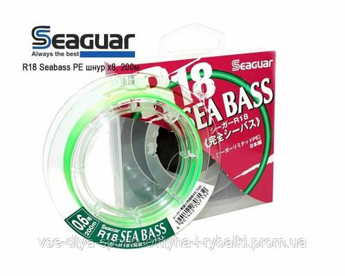 Шнур плетеный Seaguar R18 Seabass PE шнур х8,200м    #1.2/22lb