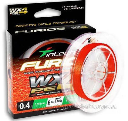 Шнур плетеный Intech FURIOS PE WX4 150m #1.2-0.185mm (8.17 kg)