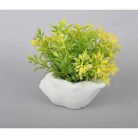 """Композиция цветочная для декора """"Liga"""" SU2856, размер 10х9х5 см, в вазоне, 3 вида, декоративный цветок, искусственное растение"""