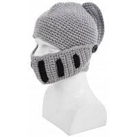 Стильная вязаная зимняя шапка с тканевой маской От XS to M