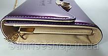 Клатч лаковый цвет фиолетовый, фото 2