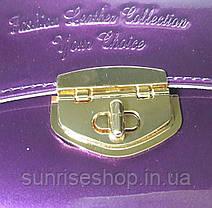 Клатч лаковый цвет фиолетовый, фото 3