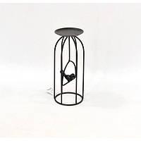 """Подсвечник декоративный для свечей """"Клетка"""" JK1519, металл, 25х10 см, подставка для свечи, подсвечник для декора, декор-подсвечник"""