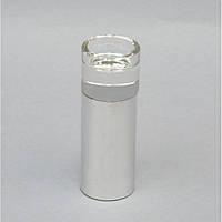 """Подсвечник декоративный для свечей """"Basic"""" KM1022, металл / стекло, 14х5 см, подставка для свечи, подсвечник для декора, декор-подсвечник"""