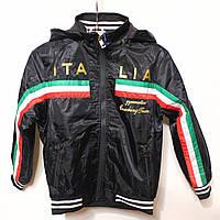 Спортивная весенняя куртка-ветровка для мальчиков от 4 до 12 лет