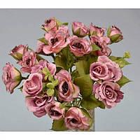 """Композиция цветочная для декора """"Розочка"""" SUB091, размер 28х21 см, 2 вида, декоративный цветок, искусственное растение, букет искусственных цветов"""