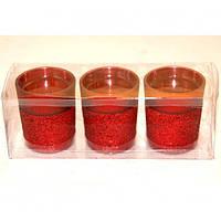 """Набор подсвечников декоративных для свечей """"Passion"""" FX460, стекло, в наборе 3 штуки, подставка для свечи, подсвечник для декора, декор-подсвечник"""
