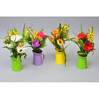 """Композиция цветочная для декора """"Маки"""" SU477, 4 вида, декоративный цветок, искусственное растение, букет искусственных цветов"""