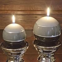 "Свеча декоративная для дома ""Three colours"" SW7124, размер 80 мм, в форме шара, свечка для интерьера, свеча для декора, подарочная свеча"