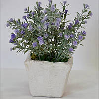 """Композиция цветочная для декора """"Лаванда"""" SU221, размер 19x9х9 см, в вазоне, 3 вида, декоративный цветок, искусственное растение"""