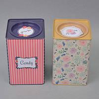 """Банка для хранения сыпучих продуктов """"Candy"""" CF03, размер 18x11x11 см, металл, 6 видов, емкость для хранения сыпучих, фото 1"""