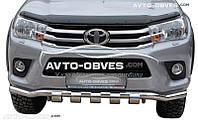 Изогнутый ус с перемычками для Toyota Fortuner 2015 - … от ИМ Автообвес