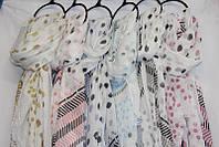 """Шарф-палантин женский яркий в горошек, размер 90*180 см (6 цветов) Серии """"AURA"""" купить оптом в Одессе на 7 км, фото 1"""