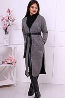 """Женское пальто """"Халат""""  с поясом"""