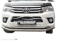 Защитная дуга монолит Toyota Fortuner 2015 - … d60*42