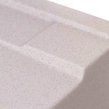 Кухонная мойка ГРАНИТ с евросифоном (крыло с уклоном) 78*50 см Granado VIGO gris 1408, фото 3