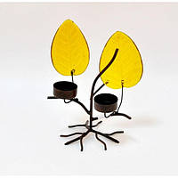 "Подсвечник декоративный для свечей ""Fall"" TM1126, металл, 22х17 см, на 2 свечи, подставка для свечи, подсвечник для декора, декор-подсвечник"