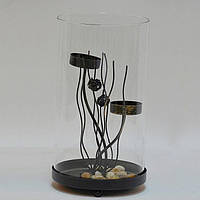 """Подсвечник декоративный для свечей """"Sea"""" RH013, металл / стекло, 23x12 см, на 2 свечи, подставка для свечи, подсвечник для декора, декор-подсвечник"""