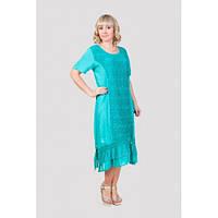 Яркое летнее женское платье бирюзового цвета Код:292357718