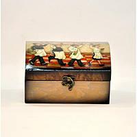 """Комплект шкатулок для хранения мелочей """"Wine"""" D0061, дерево, 2 штуки, 7.5x14.5x10 см / 10x18x13 см, шкатулка под украшения, шкатулка из дерева"""