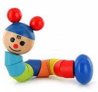 Деревянная развивающая игрушка Гусеница | Деревянная игрушка Гусеница