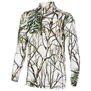 Флисовая кофта Jahti Jakt Rowan ½ Zip Fleece Top Snow Camo