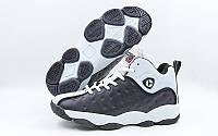 Обувь для баскетбола мужская Jordan  (р-р 41-45) (PU, черный-белый)