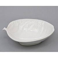 """Пиала керамическая для кухни """"Листочек"""" A4260, размер 27х20 см, тарелка для продуктов, тарелка на кухню, кухонная пиалка"""