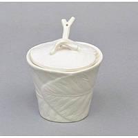 """Емкость для хранения сахара """"Sugar"""" A4110, с ложечкой, размер 11х10 см, керамика, емкость для сыпучих, банка для сыпучих продуктов"""