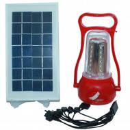 Фонарь аккумуляторный 35 SMD.выносная солнечная панель. кабель для зарядки телефона Intertool