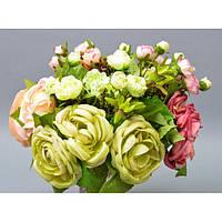 """Композиция цветочная для декора """"Роза"""" SUB8101, размер 25х20 см, 4 вида, декоративный цветок, искусственное растение, букет искусственных цветов"""