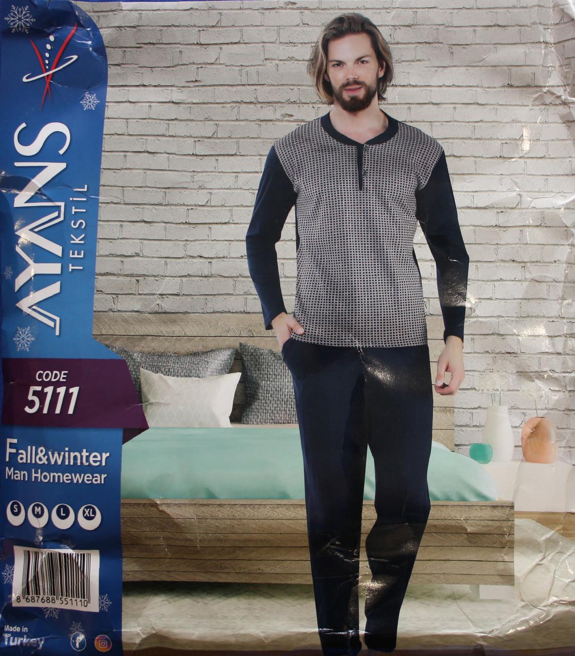 Мужская пижама с пуговицами AYANS 5111