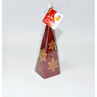 """Свеча для праздничного интерьера """"Рождественская звезда"""" S695, пирамида, 240 мм, Свеча-фигурка, Свечки для Нового Года, Праздничные свечи"""