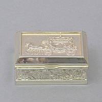 """Шкатулка металлическая для украшений """"Grace"""" M1225, размер 4х8х5 см, шкатулка для драгоценностей, шкатулка для мелочей"""
