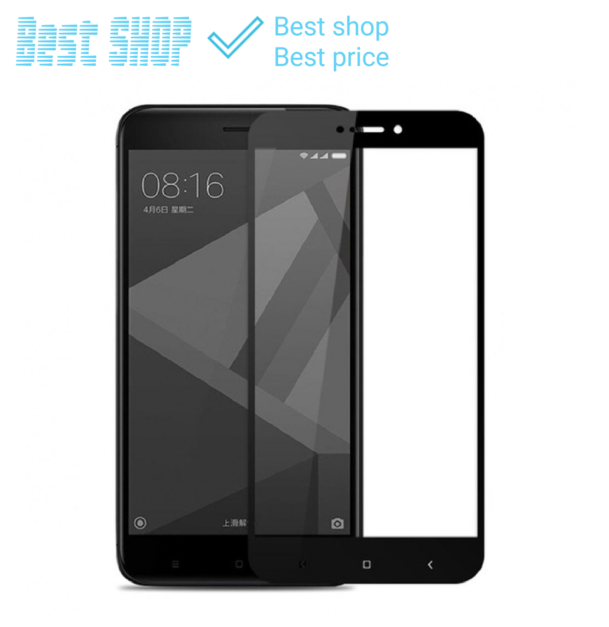Защитное стекло Full cover для Xiaomi Redmi 4x